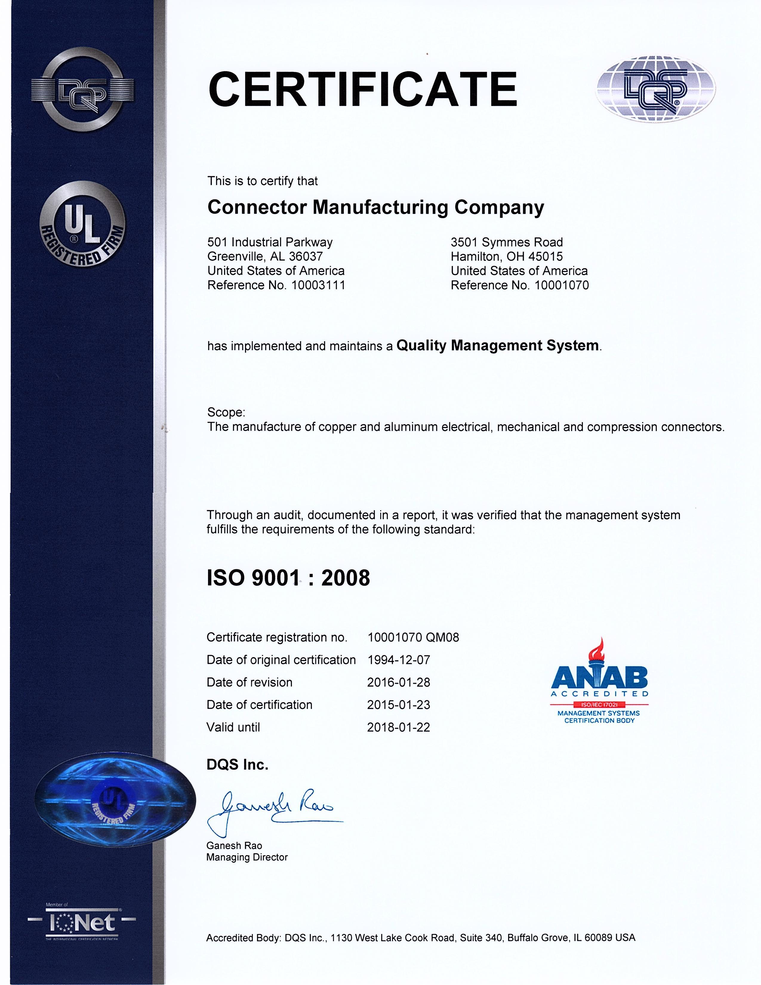 iso oktagon certification